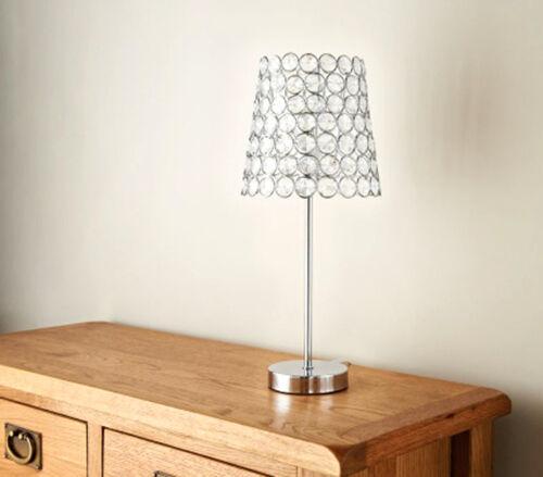 Home Decor Valencia Diamond /& Chrome Table Lamp Base /& Shade
