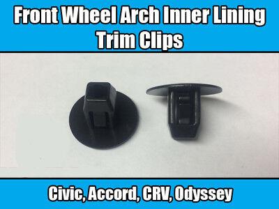 20x TRIM CLIPS pour Honda Civic CRV Accord INNER WHEEL ARCH Doublure SPLASH GARDE