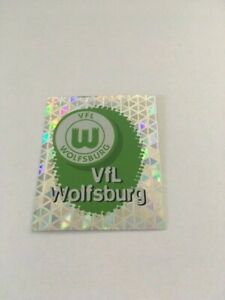 Panini-Bundesliga-1996-1997-Endphase-243-VFL-Wolfsburg-Wappen-Glitzer