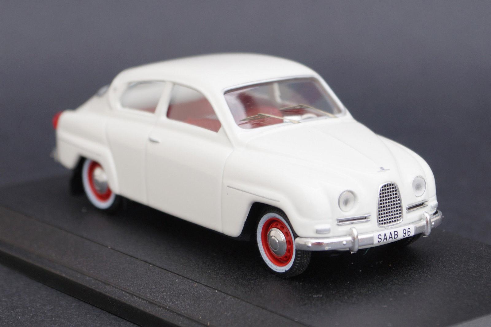 1 43 1960 Saab 96 model Replicar made in Portugal White