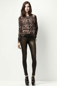 NEW-J-BRAND-JEANS-253-620-MID-RISE-COATED-SUPER-SKINNY-IN-DIFFUSED-GOLD-SZ-30