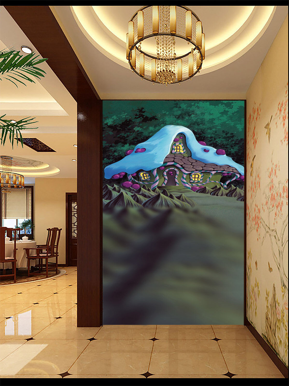 3D 3D 3D Magic House 2170 Wall Paper Wall Print Decal Wall Deco Wall Indoor Murals 84697a