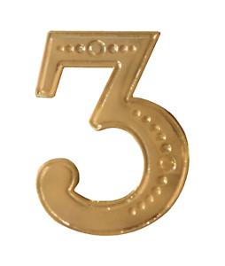 Number 3 Gilded Orange Order Collarette Character