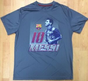 Image is loading FCB-Soccer-Shirt-Men-s-Large-Lionel-Messi- 00d6e0bdb