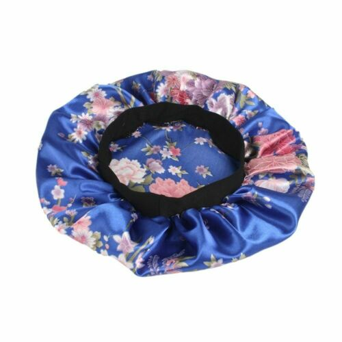 Womens Wide Band Satin Bonnet Soft Satin Night Sleep Hat Hair Cap Fashion New