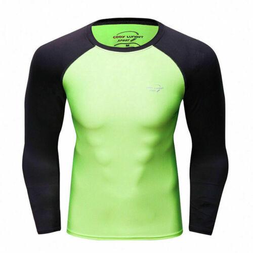 Shorts Herren Kompression Top Athletic Laufen Training Fitness T-Shirt Lang