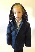 Wax Jacket Kids Made In England Padded Navy Olive Green 24 26 28 30 32 34