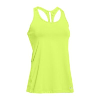 * Under Armour Women/'s UA Achieve T-Back Tank Top; X-Ray//Vis Yellow; SIZE Large
