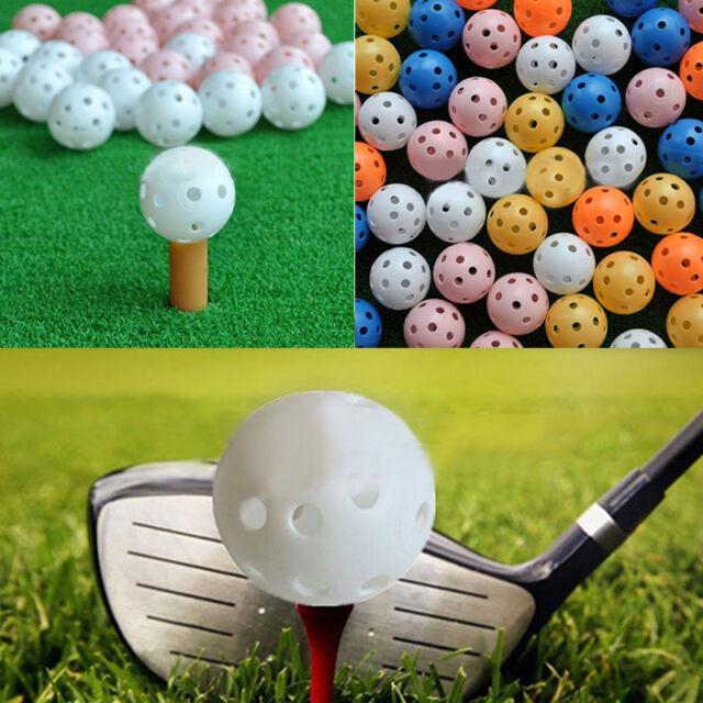 20 pcs Hollow Plastic Practice Golf Balls Golf Wiffle Balls Air Flow Ball