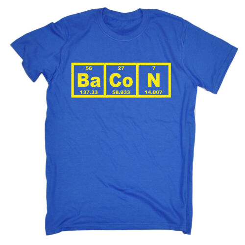 Bacon Periodic Element T-SHIRT Science Humour Geek Joke Funny Gift Birthday