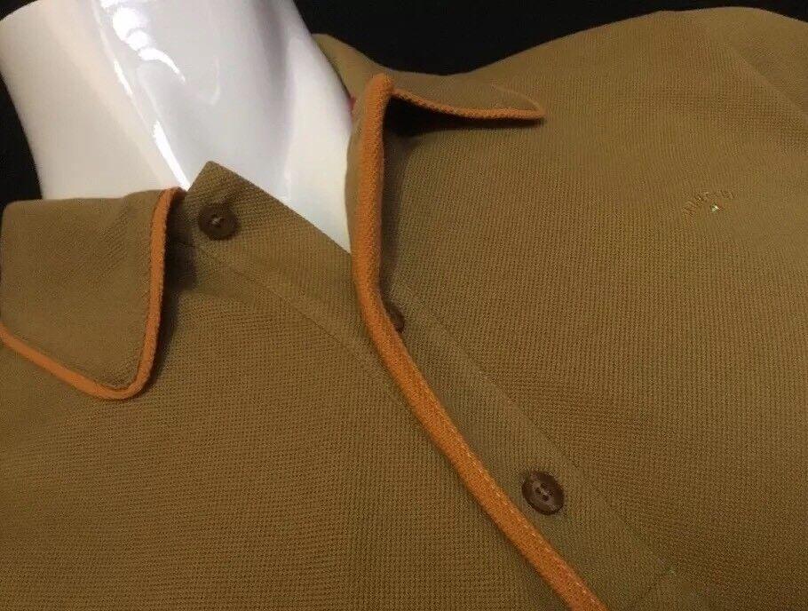"Mancini  XL  Chest Measures 46""  Cumin Homer Polo Shirt  RRP .99"