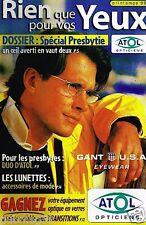 Publicité Advertising 1999 Opticiens Atol