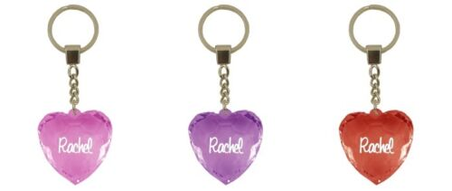 Heart Shape Keyring Heart shaped key ring 3 colours Names//Letters L-Z
