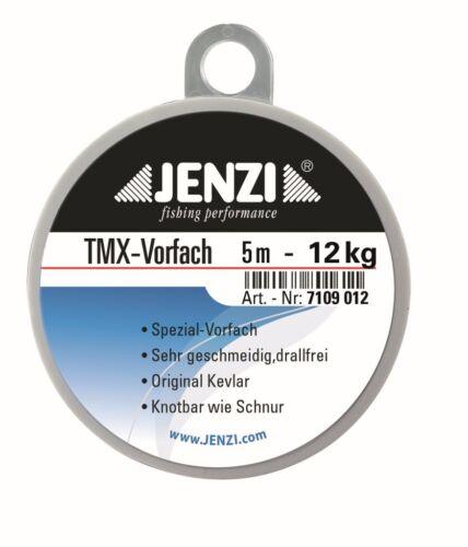 JENZI TMX Vorfach Kevlarvorfach Kevlar Raubfischvorfach 8 m Spule 8 oder 12 Kg