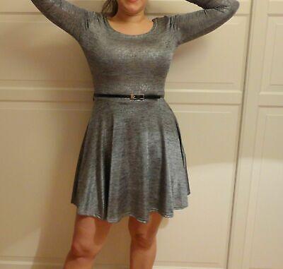Primark Ausgestelltes Kleid Skaterkleid glitzer mit Gürtel ...