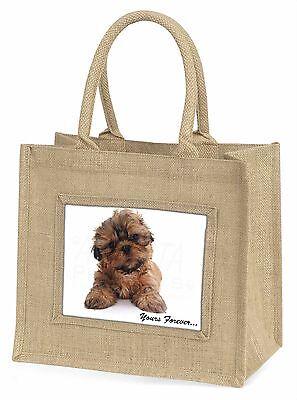 Shih Tzu Hund dir für immer Große Natürliche Jute-einkaufstasche Weihnachten,
