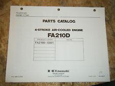 KAWASAKI 4 STROKE AIR COOLED ENGINE FACTORY PARTS CATALOG FA210D-GS01 MANUAL