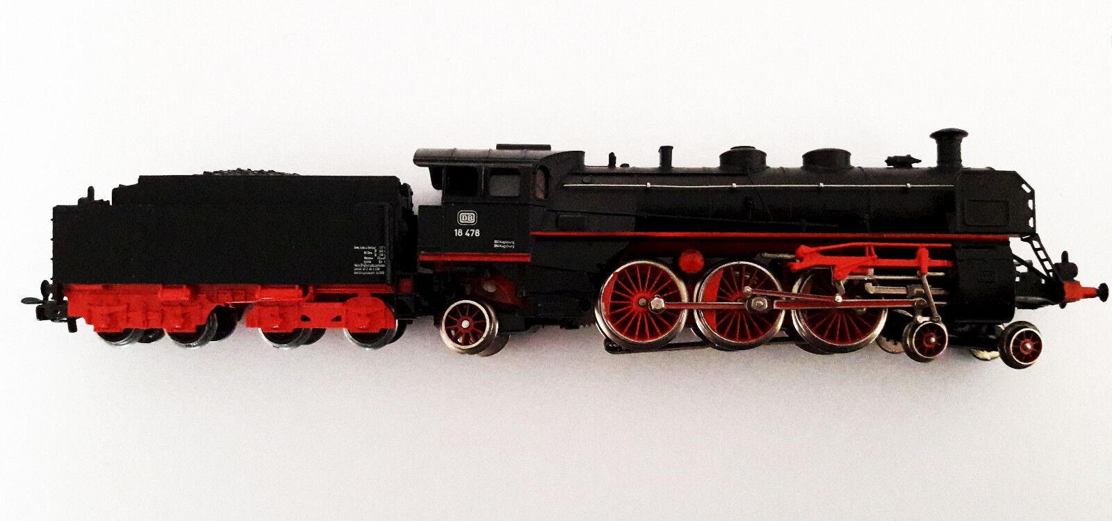 , h0, 3093, locomotiva a vapore BR 18478 DB, metallo pieno