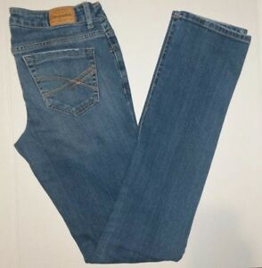 Aeropostale-Womens-Size-2-Bayla-Skinny-Crop-Jeans-Stretch-Blue-Denim-Teen-A53