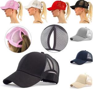 Summer-Ponycap-Messy-High-Bun-Ponytail-Adjustable-Mesh-Trucker-Baseball-Cap-Hat