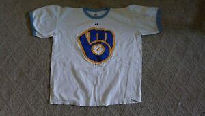 Milwaukee Brewers Ball Glove Logo XL T-Shirt MLB Q5