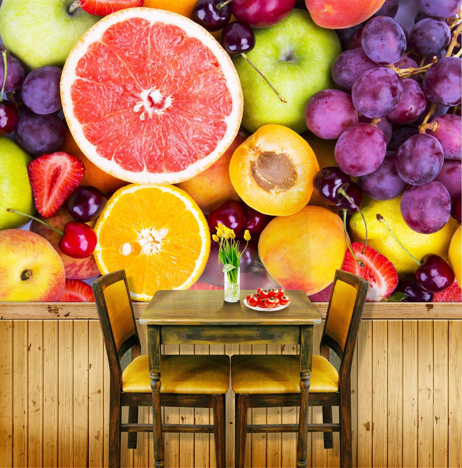3D frutta 436 Parete Murale Foto Carta da parati immagine sfondo muro stampa