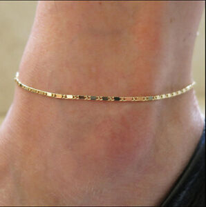 Women-Gold-Plated-Chain-Anklet-Ankle-Bracelet-Barefoot-Sandal-Beach-Foot-Jewelry