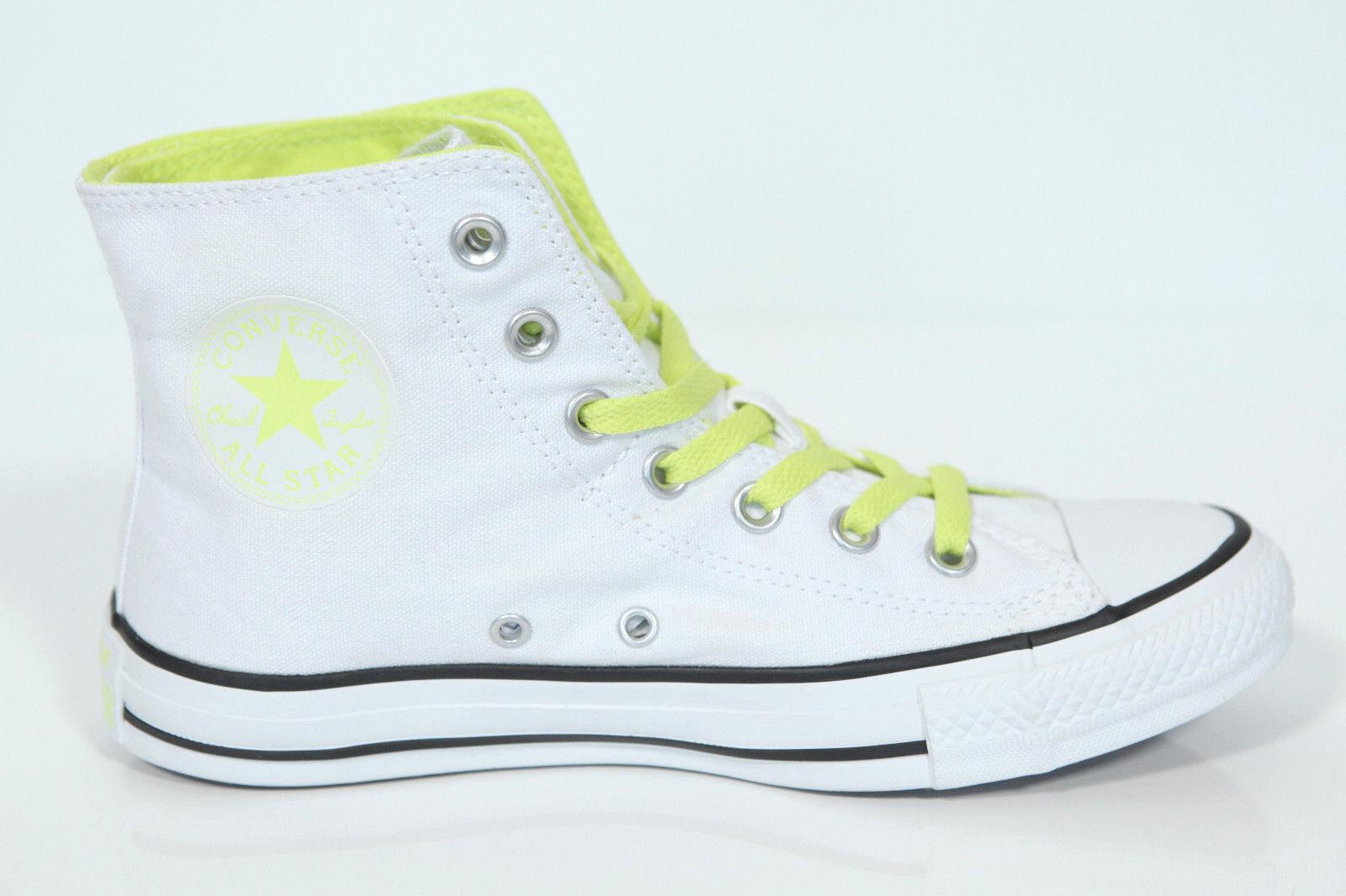 Neu All Star Converse Chucks Hi Two Fold weiß citron Sneaker 542590c Retro
