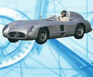 Auto-Drawings-Scale-1-12-1-16-1-24-1-32-MERCEDES-BENZ-300SLR-Digital-plan-on-cd