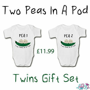 Image Is Loading Newborn Twins Gift Set Two Peas In A