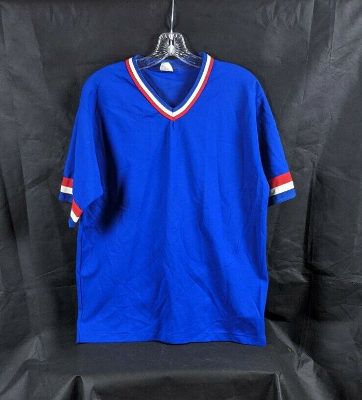 Vintage Don Alleson Athletic Shirt Red White Blue Made In USA Size Large
