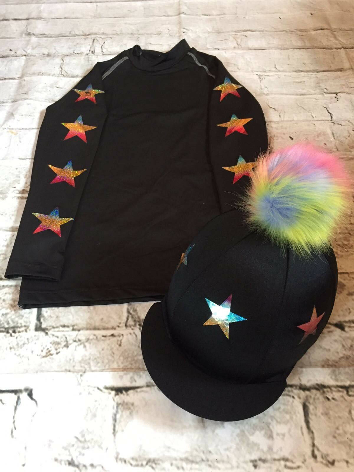 SXC Eco Star Cross Country Colour XC Stars Eventing Hat Silk Cover Equestrian