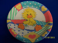 Rare Suzy's Zoo Baby Shower Retro Duck Party Bulk 10.25 Paper Banquet Plates