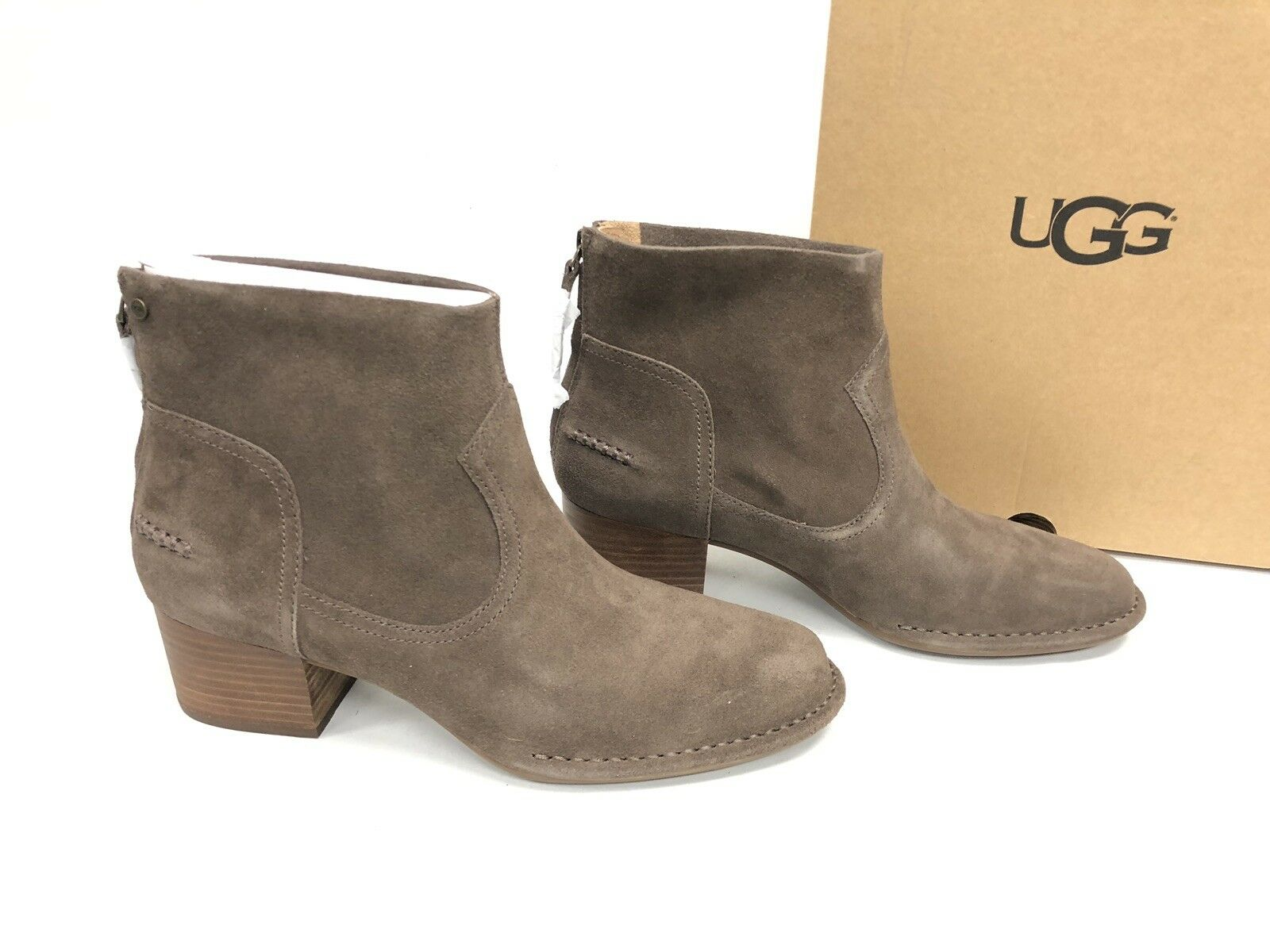 1ea7b451187 UGG Women's Bandara Ankle Boot Suede Leather Mysterious 1095053 Size 6.5