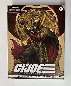 G.I. Joe Classified Series SNAKE SUPREME COBRA COMMANDER 09 SDCC Pulsecon Excl !