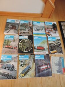 Train-Railroad-Magazines-1972-Model-Railroader-toy-train-mags-amp-About-Railways