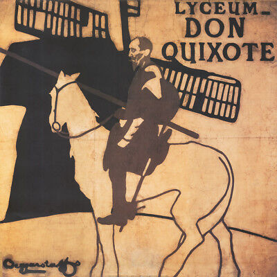 """36W""""x36H"""" LYCEUM DON QUIXOTE by WILLIAM NICHOLSON JAMES PRYDE CHOICES of CANVAS"""