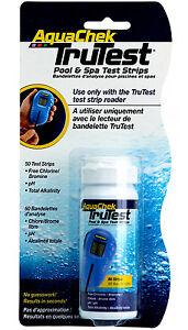 Aquachek Trutest Digital Swimming Pool Chemical Test Strips 50 Pack Ebay