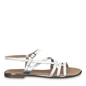 Tamaris Damen Sandaletten WeißSilber: : Schuhe