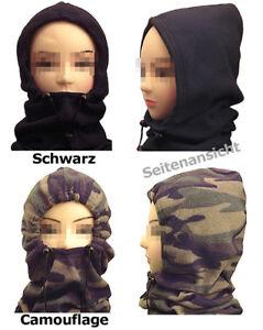 Schlauchschal-Mumie-Fleece-Snowboard-schwarz-tarn-army-camo-Kapuze-Schutz-Motorr
