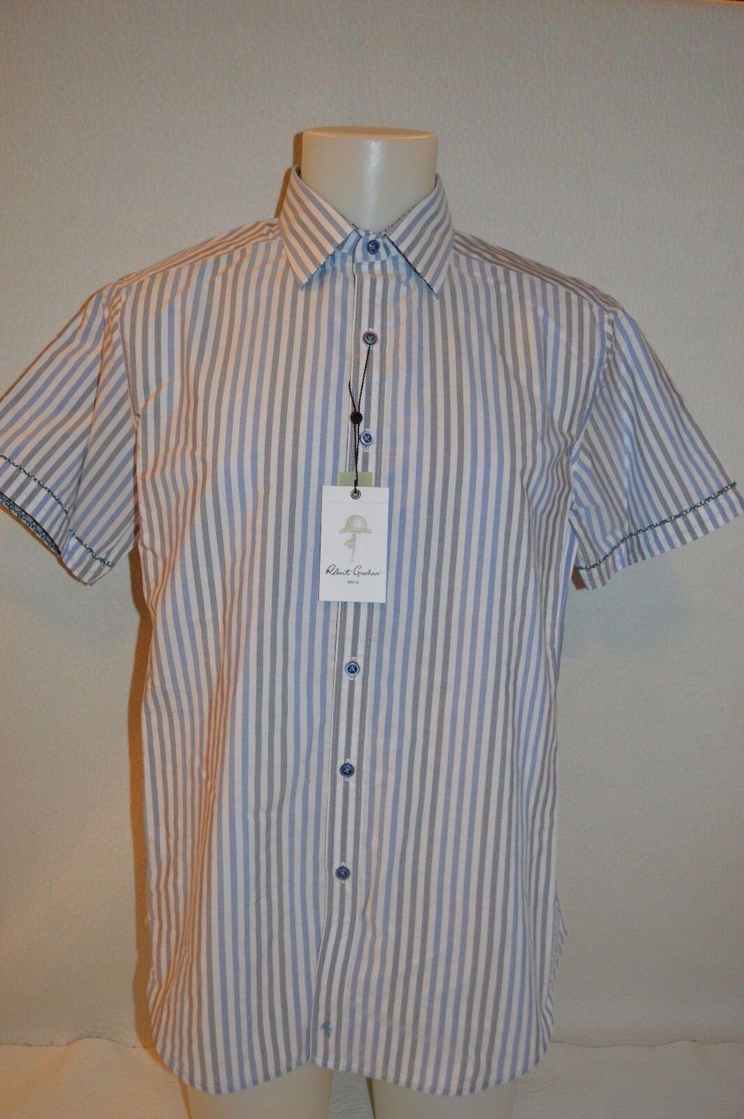 ROBERT GRAHAM Man RICHMOND HILLS Short Sleeve Shirt NEW Size Large Retail