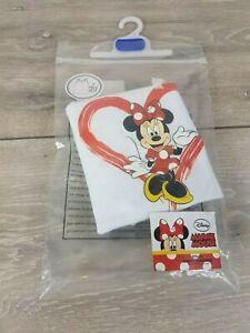 Officiel-Disney-Minnie-Mouse-Filles-Vestes-Top-shirt-enfant-blanc-5-6-ans-A6224