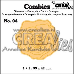 Crealies-Combies-CLCB04-Roses-tall-Stanzschablone-amp-clear-stamp-SET