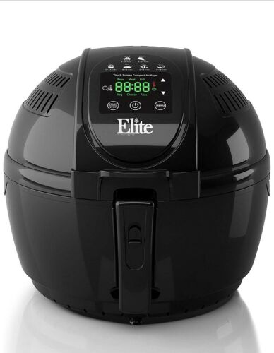 Elite Platinum EAF-1506D Electric Digital Hot Air Fryer 3.5 Quart, Black