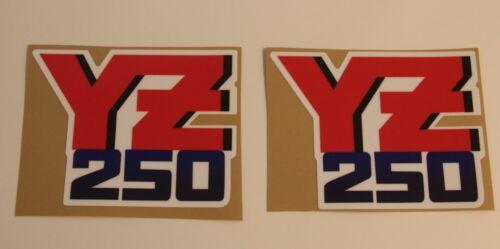 Graphics Yamaha 1987 YZ 250 Radiator Shroud Decal set logos