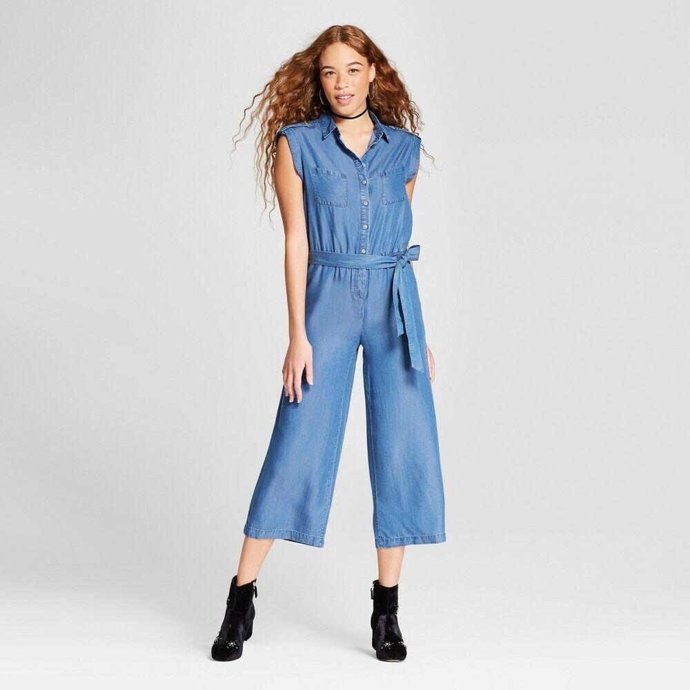 Alison Andrews Femmes Jeans Col Chemise Combinaison, M Lavage, M