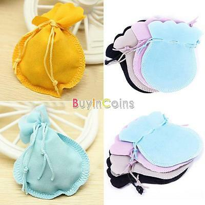 5/10/50 9x7cm Velvet Drawstring Pouches Coin Jewelry Wedding Gift Bag Cute