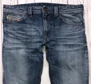 Da-Uomo-Diesel-THAVAR-Jeans-W32-L30-Blue-Slim-Skinny-Fit-Lavaggio-0817C