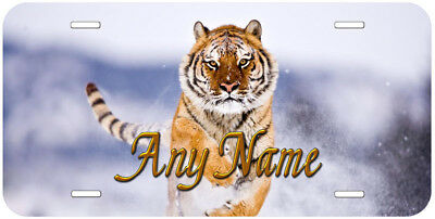 Running Tiger Any Name Personalized Novelty Car Auto License Plate