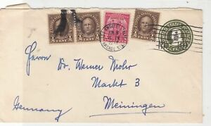 United States 1932 Los Angeles cancel stamped envelope stamps cover ref 21738